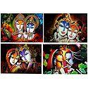 Radha Krishna - Set of 4 Posters
