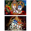 Radha Krishna - Set of 2 Posters