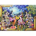 Radha Krishna Dancing to the Tunes of Gopinis