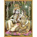 Radha Krishna's Moonlit Rendezvous