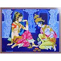 Krishna Applying Alta to Radha's Feet
