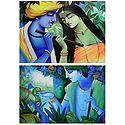 Animal Lover Krishna and Radha Krishna - Set of 24 Posters