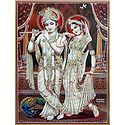 Radha Krishna - Poster with Glitter