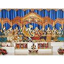 Photo Print of Radha Krishna with Eight Gopinis