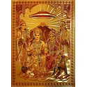 Ram Darbar - Golden Metallic Poster