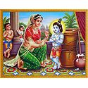 Yashoda Give Punishment to Krishna for Stealing Butter