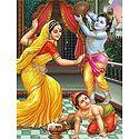 Yashoda, Krishna and Balaram