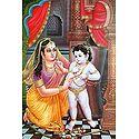 Yashoda Tying Naughty Krishna