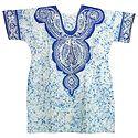 Blue and White Batik Painted Kurta