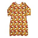 Printed Buddha Face on Yellow Cotton Kurta