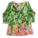 Floral Print Synthetic Designer Top