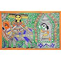 Ravana Abducts Sita in his Chariot