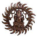 Ganesha Radiating as Sun - Wall Hanging