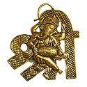 Sri with Ganesh - Metal Wall Hanging