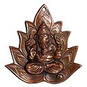 Ganesha on Lotus - Wall Hanging