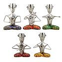 Set of 5 Musicians with Multicolor Dhoti - Iron Craft