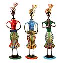 Set of 3 Multicolor Men Musicians