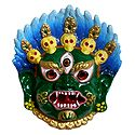 Wrathful Buddhist Deity Mahakala Mask for Wall Decoration