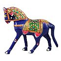 Colorful Metal Royal Horse