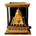 Golden Mandapam with Lights and Audio Mantra - Encased in Acrylic Box