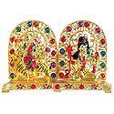 Stone Studded Lord Shiva and Bhagawati