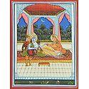 Reclining Krishna Holding Radha's Hand