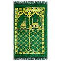 Green Velvet Islamic Namaz Mat