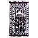 Reversible Dark Maroon Cotton Islamic Namaz Mat