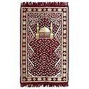 Reversible Red Cotton Islamic Namaz Mat