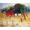 Indian Village Scene - Poster