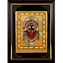 Lord Jagannath - Patachitra on Palm Leaf