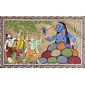 Rama and Lakshmana Fighting Demoness Taraka with the Help of Vishvamitra