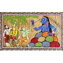 Rama and Lakshmana Fighting Demoness Taraka with the Help of Vishvamitra