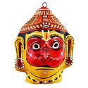 Papier Mache Mask of Hanuman - Wall Hanging