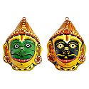 Mask of Hanuman & Jambavan - Wall Hanging