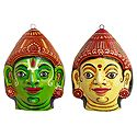 Rama & Sita Mask - Wall Hanging