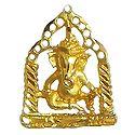 Gold Plated Pendant - Ganesha Sitting on Swing