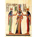 Coronation of Queen Nefertiti (Reprint From an Egyptian Painting)