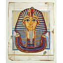 Mask of Tutankhamun (Reprint From an Egyptian Painting)