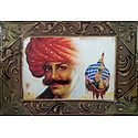 Rajasthani Man with Newly Bride on Camel - Wall Hanging