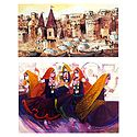 Banaras Ghat and Rajasthani Dancers - Set of 2 Small Posters