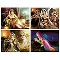 Rajasthani Women and Lovers - Set of 4 Posters