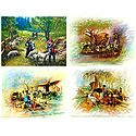 Indian Rural Life - Set of 4 Poster