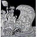 Devotees Worshipping Lord Ganesha