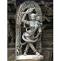 Beautiful Maiden - Temple Sculpture from Belur, Karnataka, India