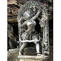 Huntress - Temple Sculpture from Belur, Karnataka, India