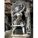 Huntress - Temple Sculpture from Belur, Karnataka, India