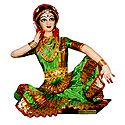 Bharatnatyam Dancer Photo - Unframed Photo Print on Paper
