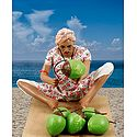 Coconut Seller Photo - Unframed Photo Print on Paper
