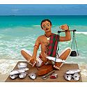 Fish Seller Photo - Unframed Photo Print on Paper
